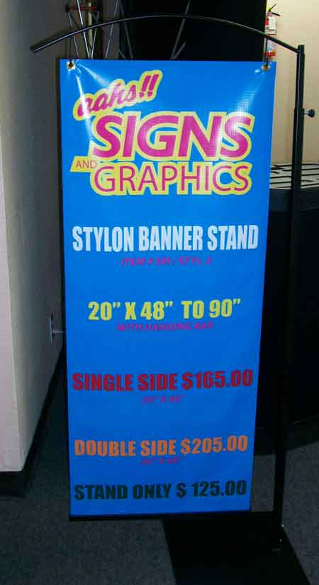 Aahs Signs And Graphics Stylon Banner Stand