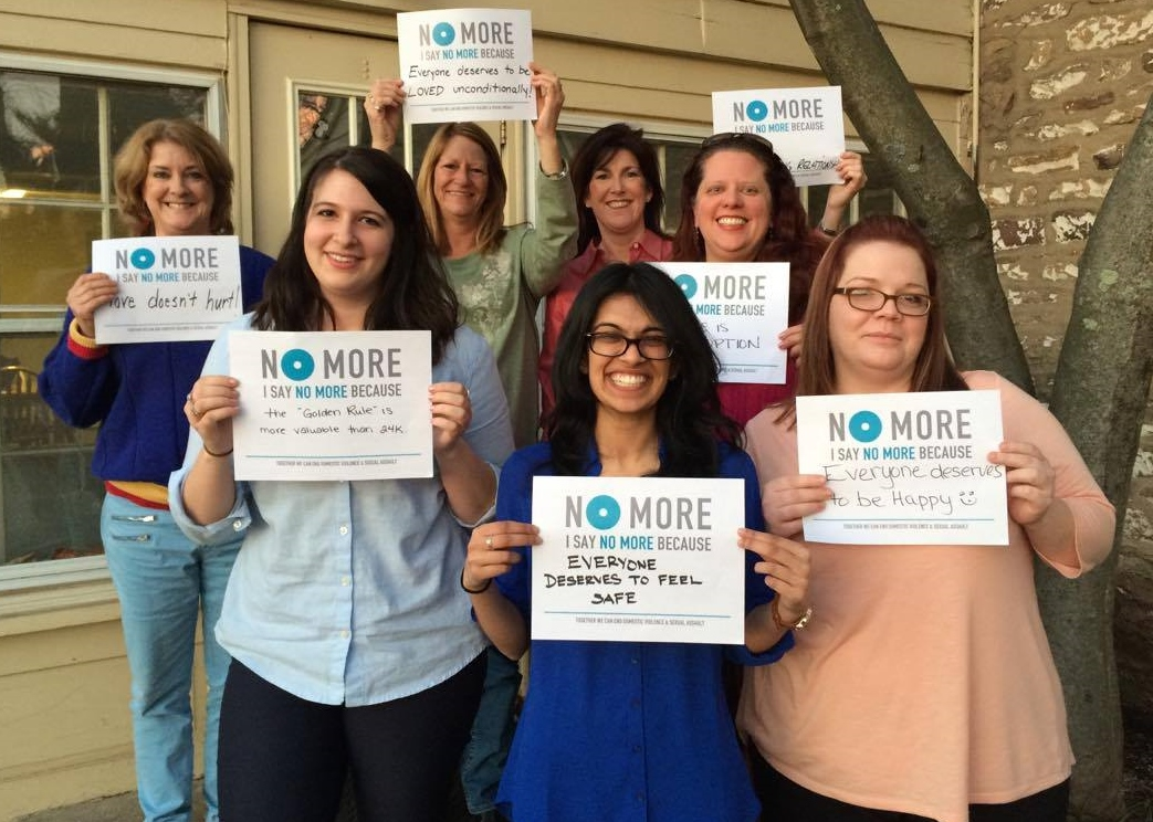 Direct Service trainee's join the NO MORE campaign, advocating for Pennsylvania's Coalition Against Abuse.