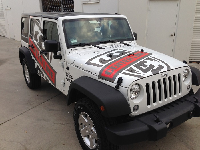 Superior car wraps vinyl truck graphics buena park orange for Custom jeep lettering
