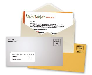 Envelope mailers produced in Owings Mills, Maryland.