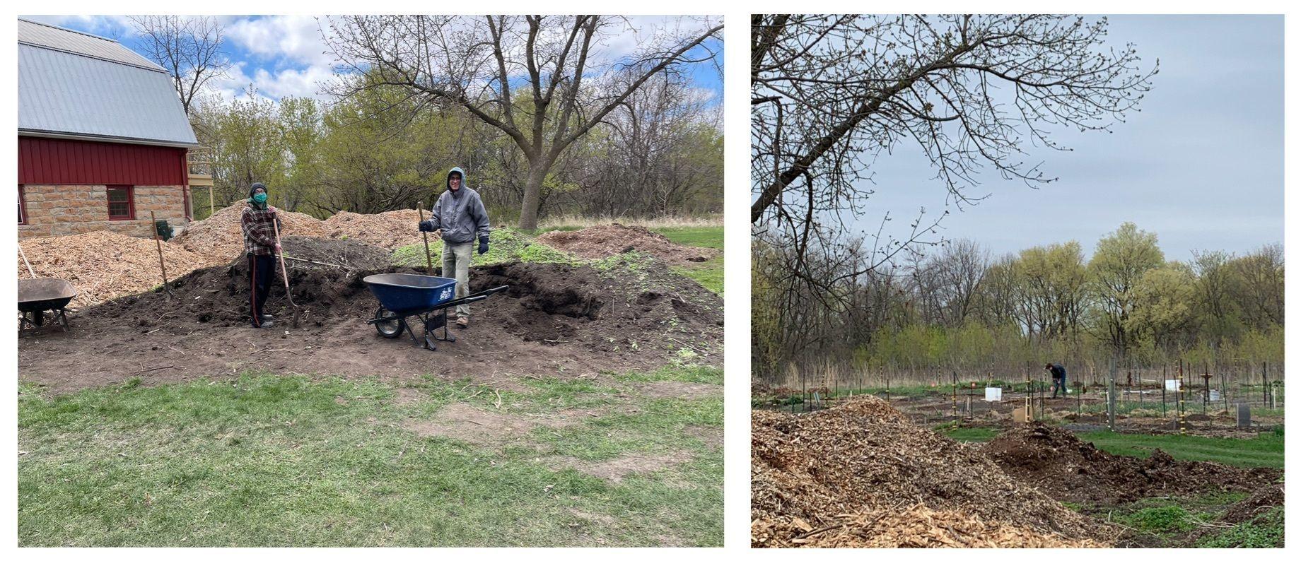 Volunteers Prep Gardens for Opening