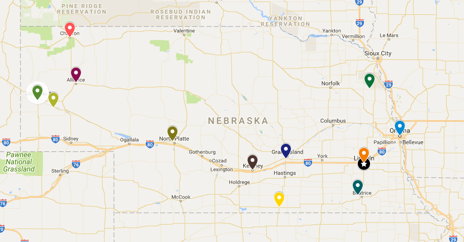 Map of Approved Sites