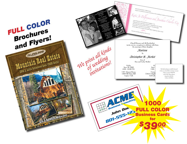 Printing products services sandy utah printing express full color copies and printing reheart Choice Image