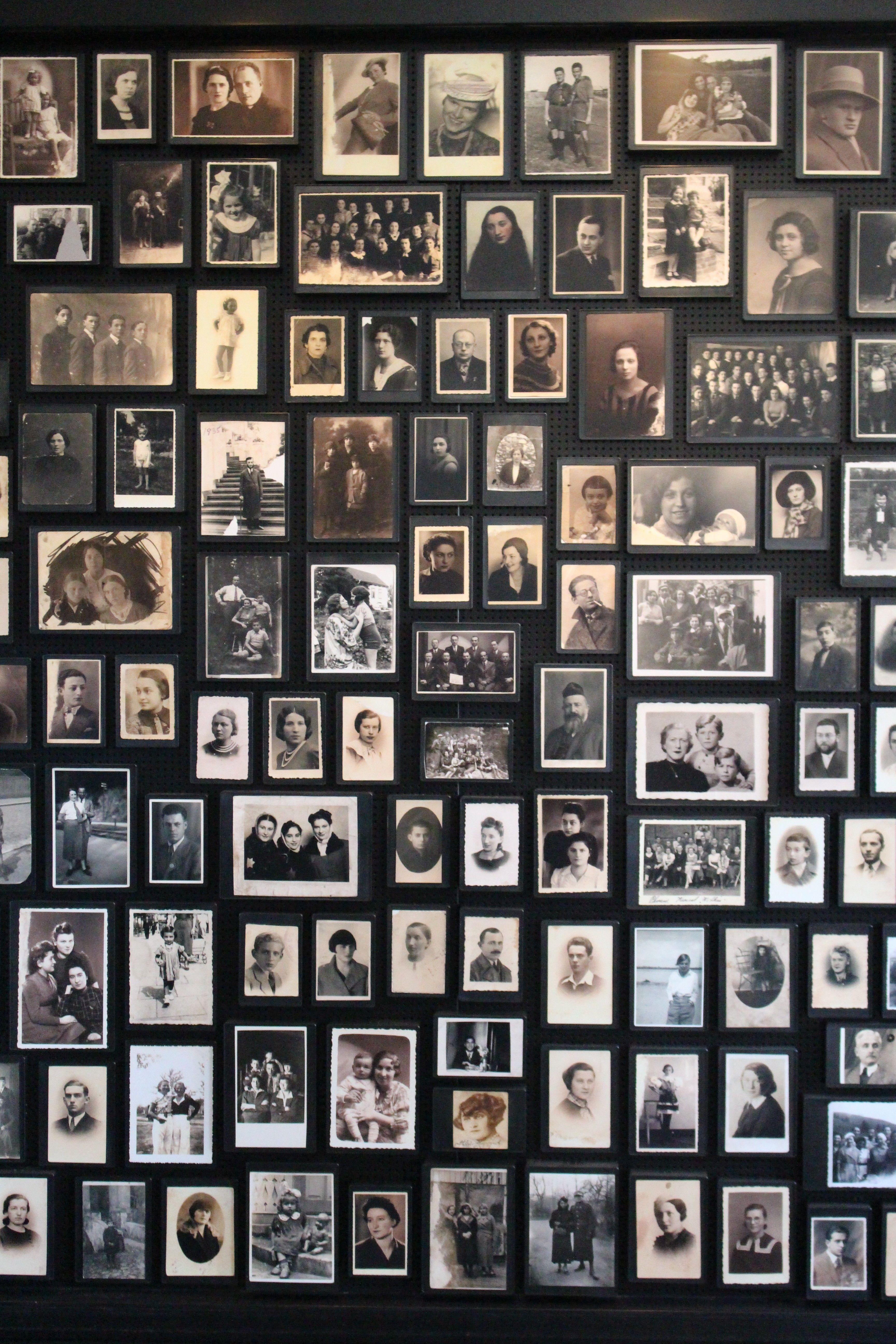 Photos in the Sauna Room in Birkenau