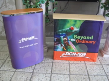 Portable Podiums with Logo