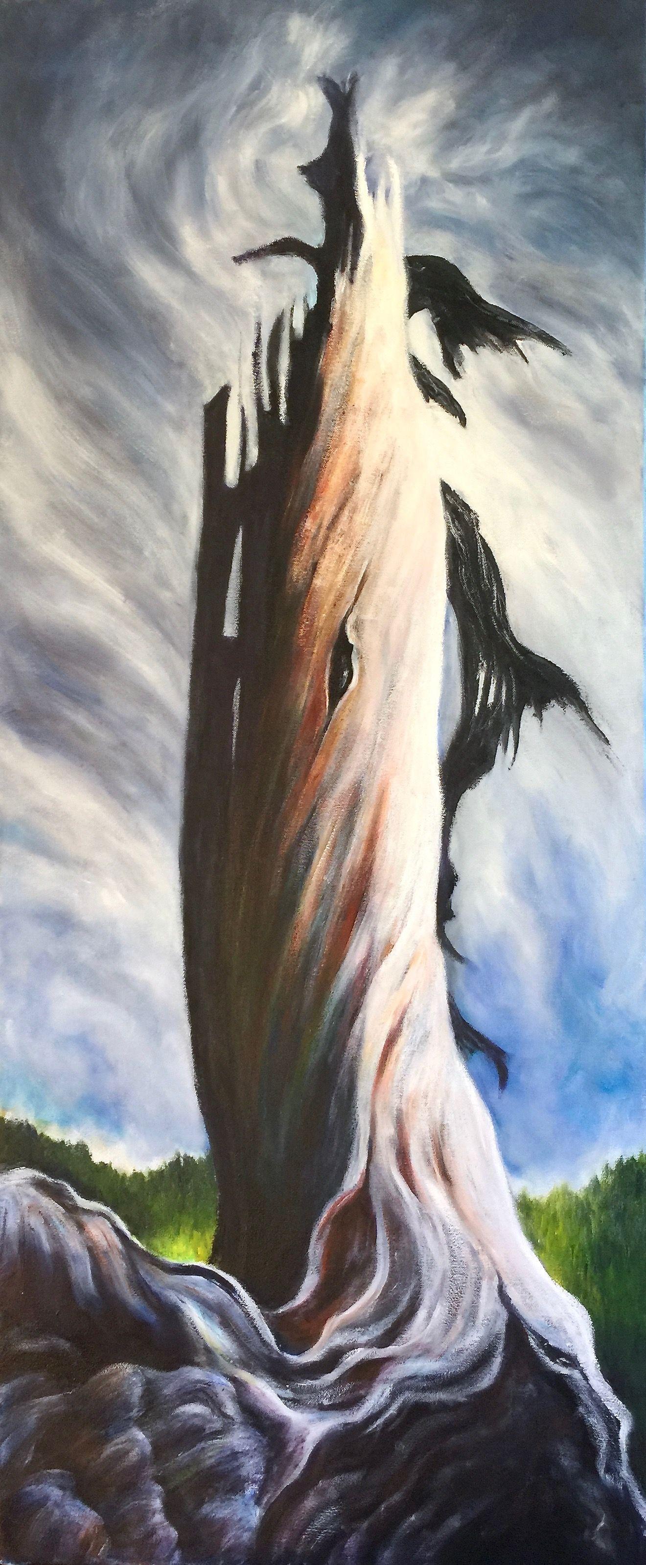 "Marilyn Lee - ""Sitka Spruce Snag, Ward Lake"""
