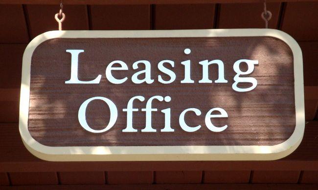 KA20540 -Carved Wood Grain HDU Hanging Sign for Leasing Office