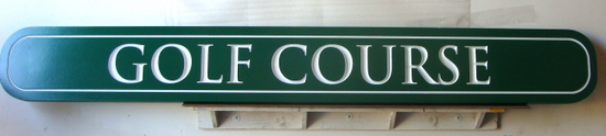 E14145 - Engraved HDU Golf Course Sign