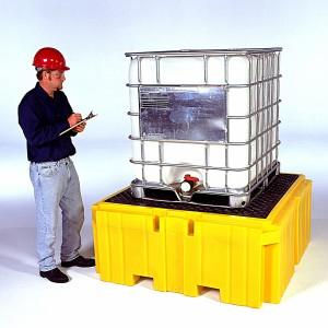 A01PF350 Ultra-Twin 1-IBC Spill Pallet Plus® w/o Drain