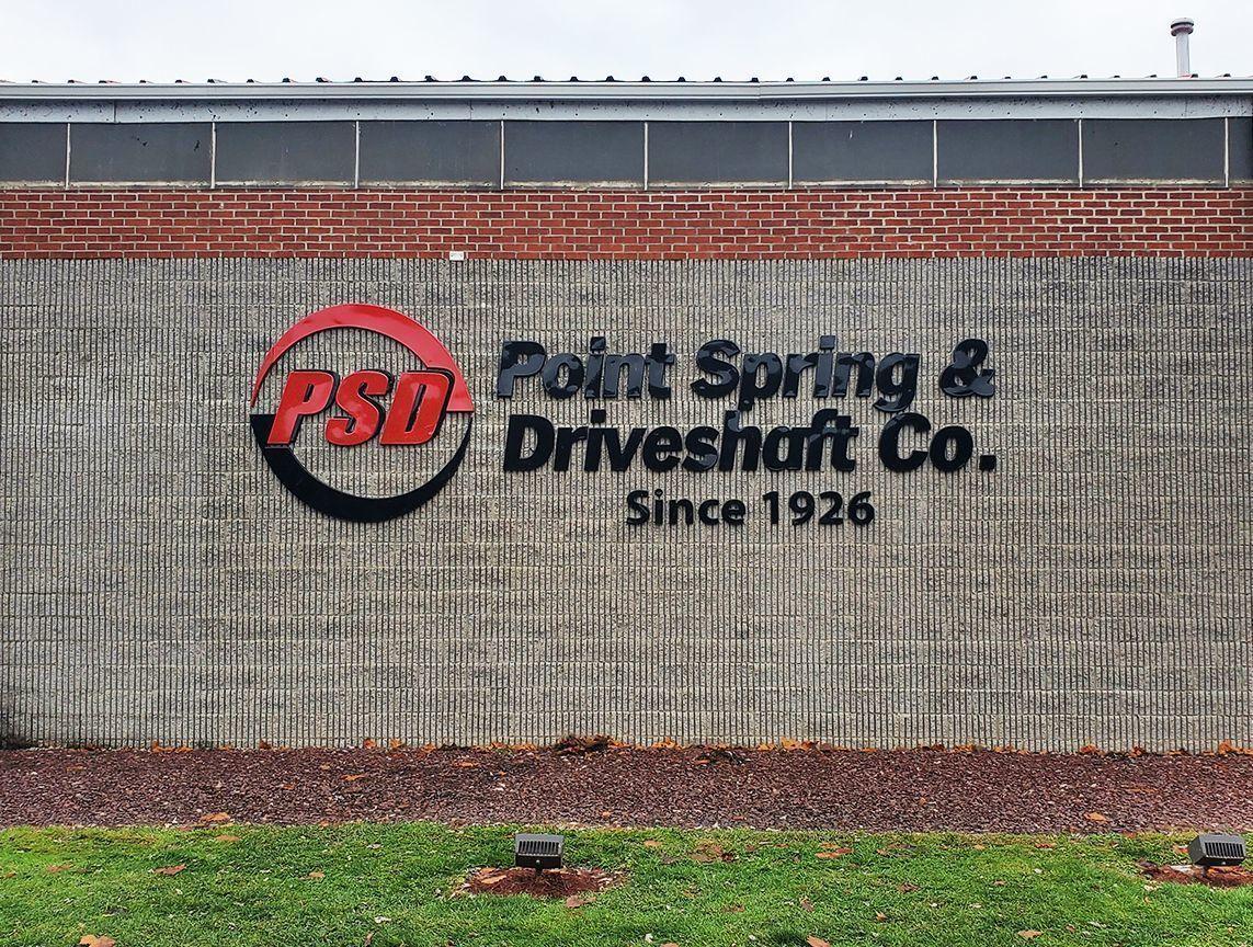Dimensional Logo Building Sign