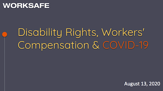 Disability Rights, Workers' Compensation & COVID-19