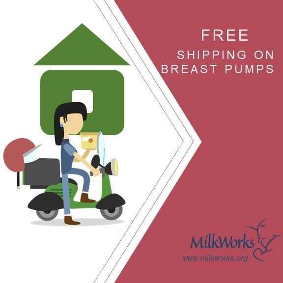 Free shipping when you order your breast pump and supplies online