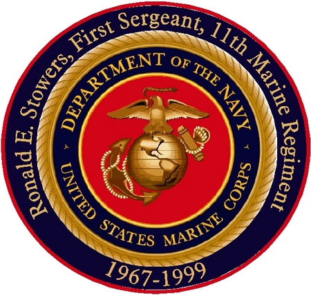 V31410 - USMC Seal Award Plaque Individually Personalized