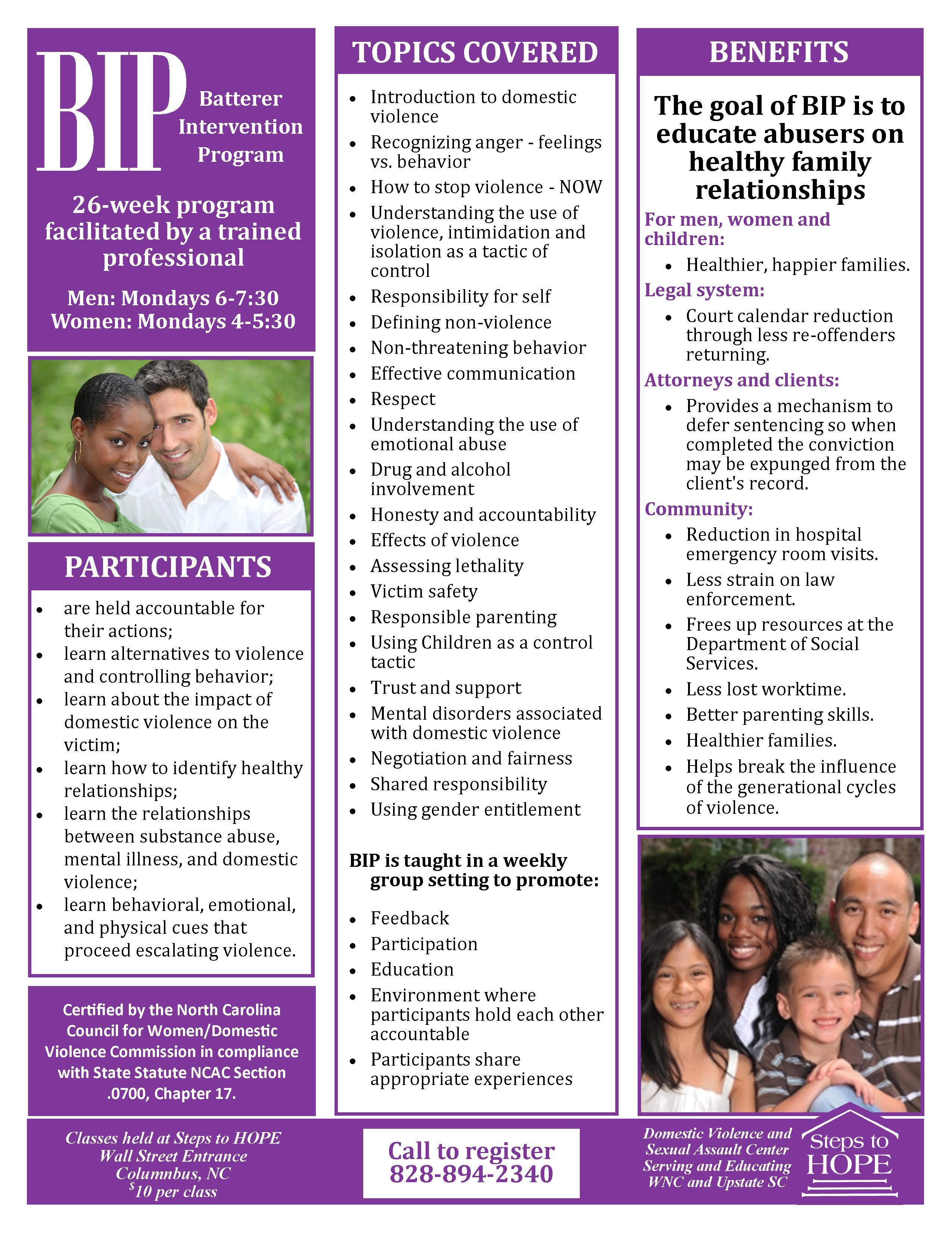 Women's BIP (Batterer Intervention Program)