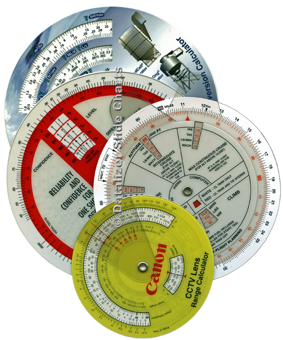 Plastic Wheel Chart Style Calculators