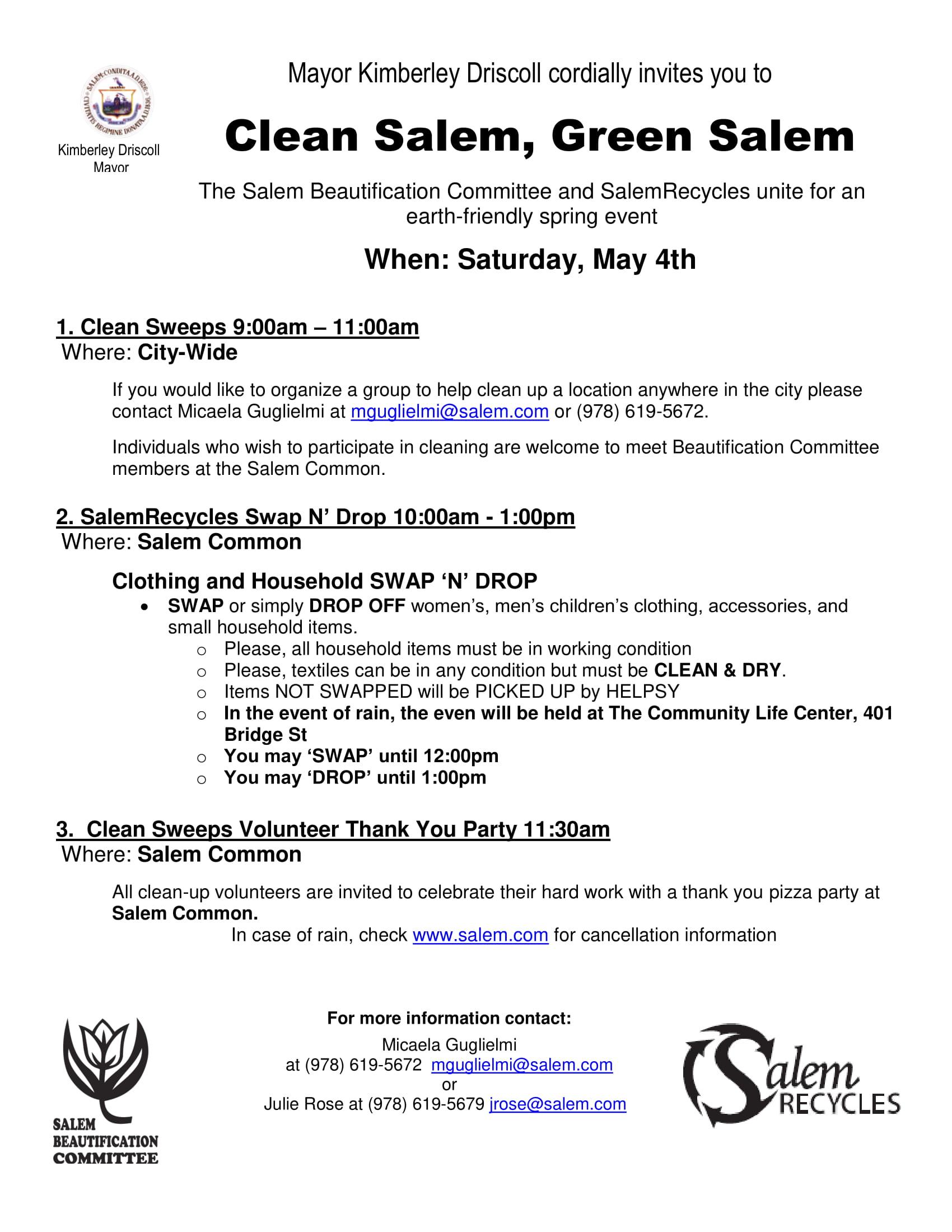 Clean Salem, Green Salem