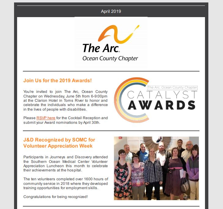 The Arc, Ocean County Chapter : Who We Are : Agency