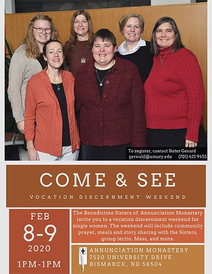 Come & See Vocation Discernment Weekend - Feb. 8-9, 2020