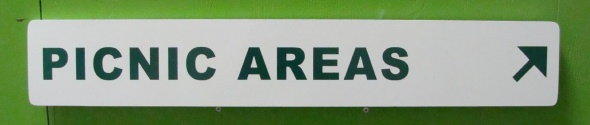 GA16595 - Carved HDU Directional Sign for Picnic Area