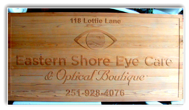 B11035 - Carved Wood Optometric Office, Eye Clinic or  Optical Dispensary Sign
