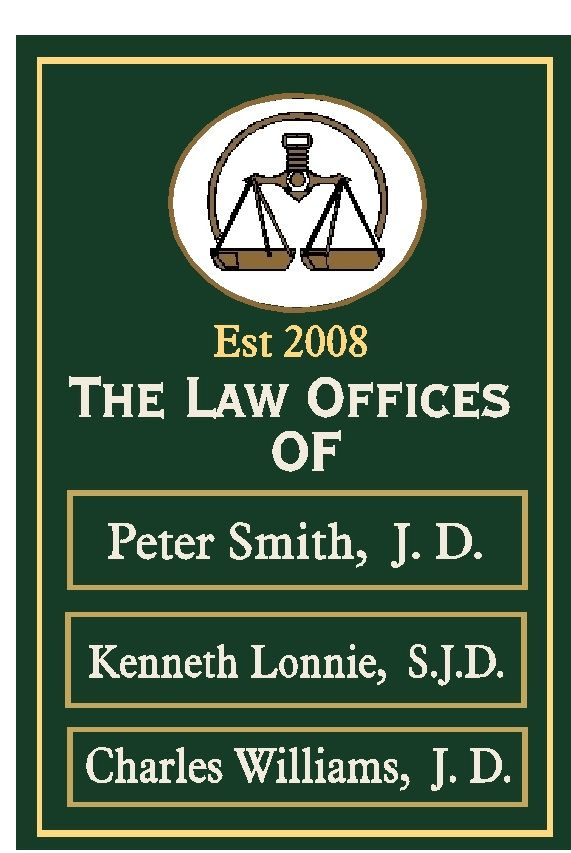 A10613 - Attorney Office Directory Name Sign, with Changeable Nameplates