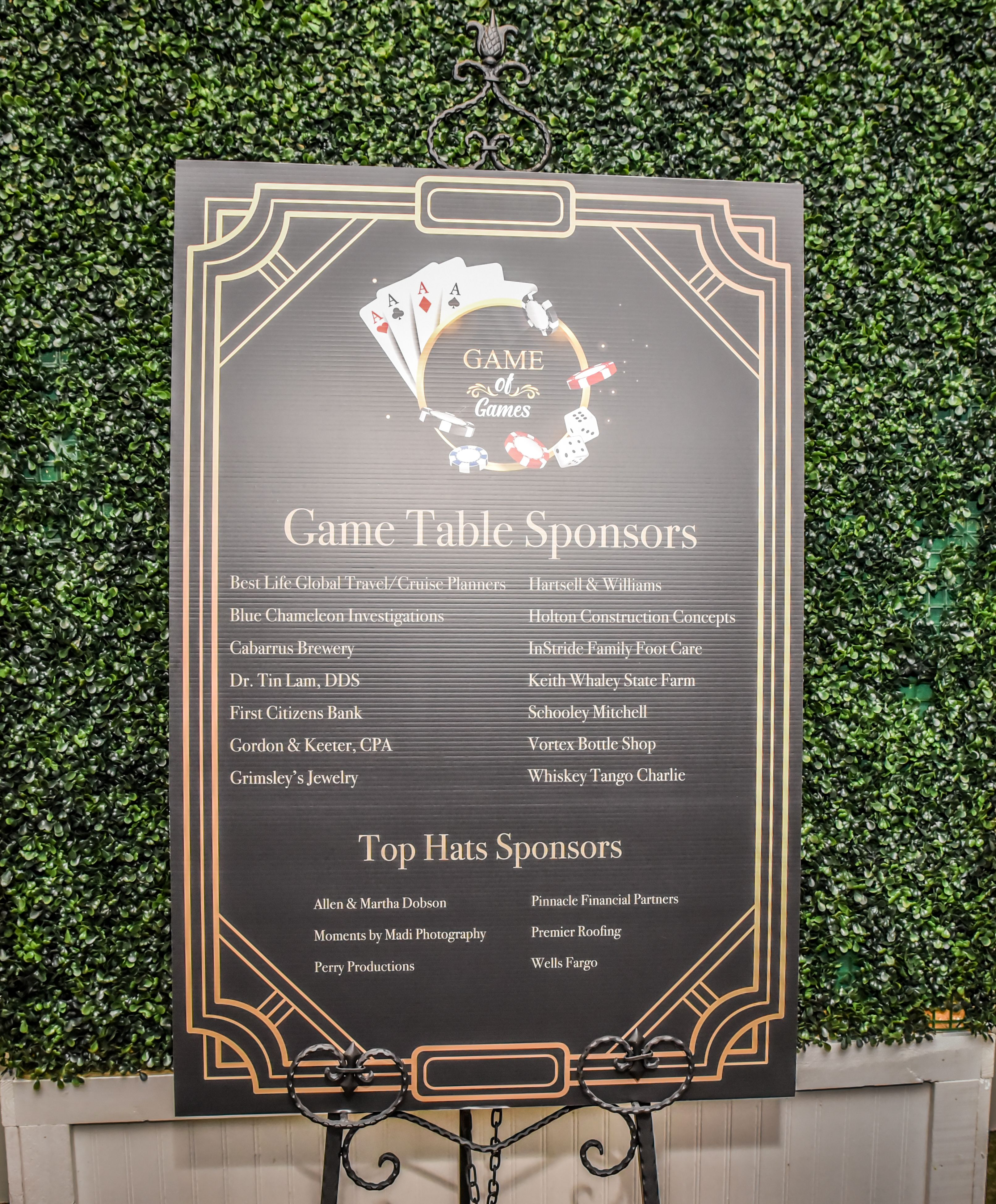 Game Table Sponsors