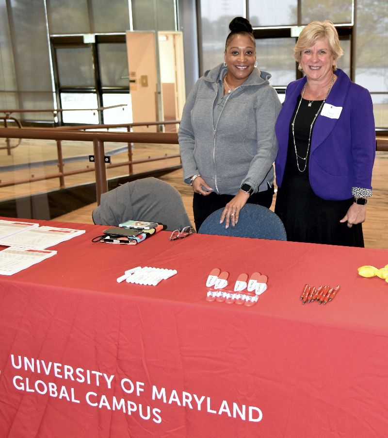 U of MD Global Campus Table at the NCMF 2019 GMM