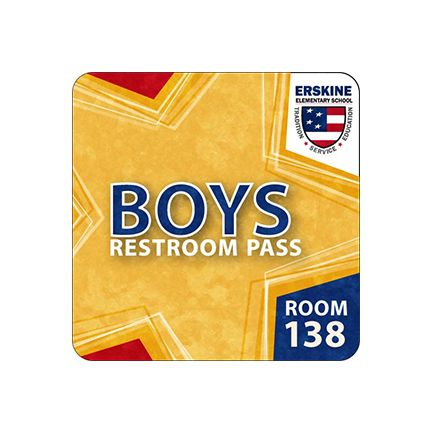 "Hall Pass 4"" x 4"" Square"