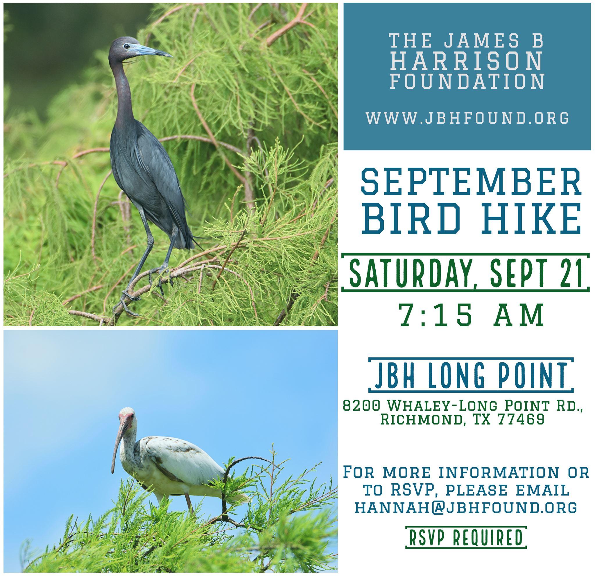 Bird Hike at JBH Long Point Ranch