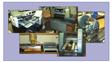 About Our Bindery Equipment