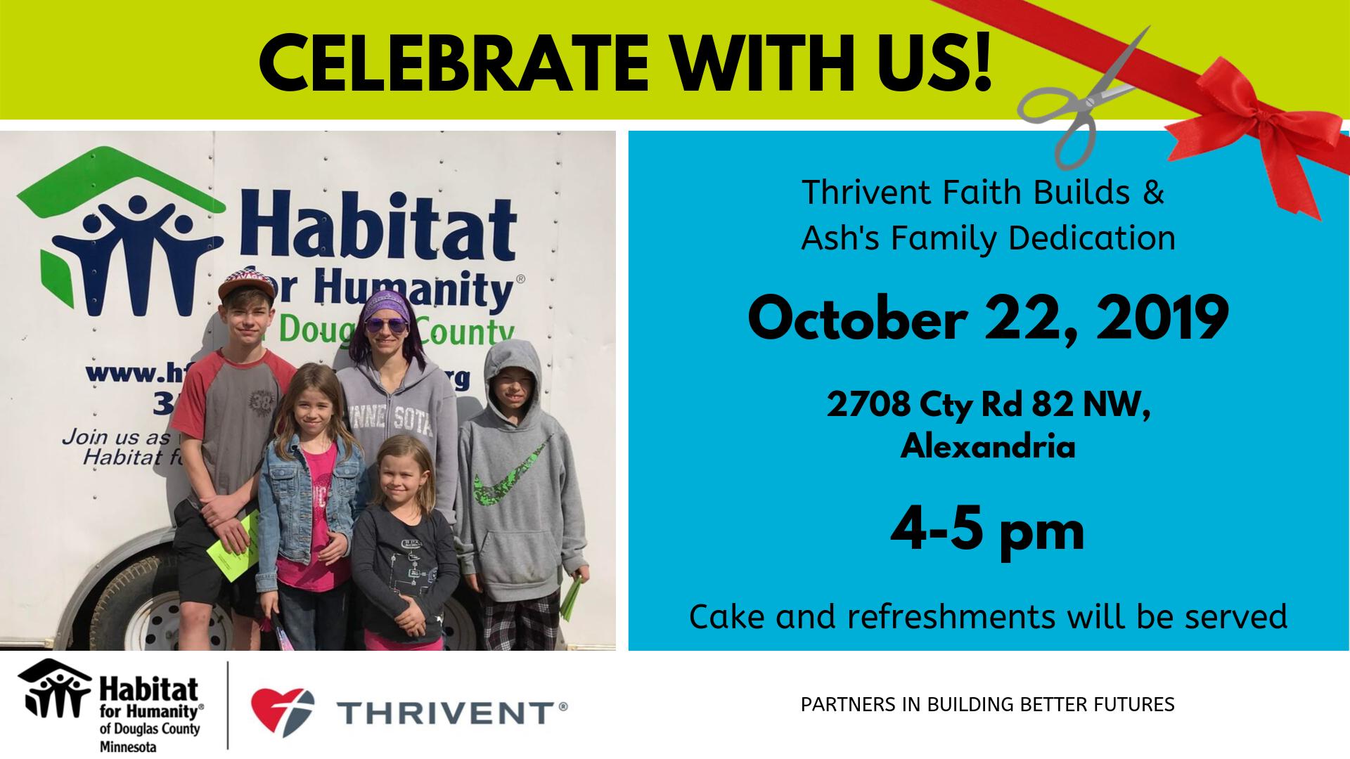 Thrivent Faith Builds Dedication for Ash's Family - October 22, 20190