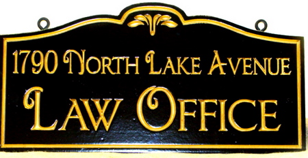 A10105 - Elegant Law Office Hanging Sign