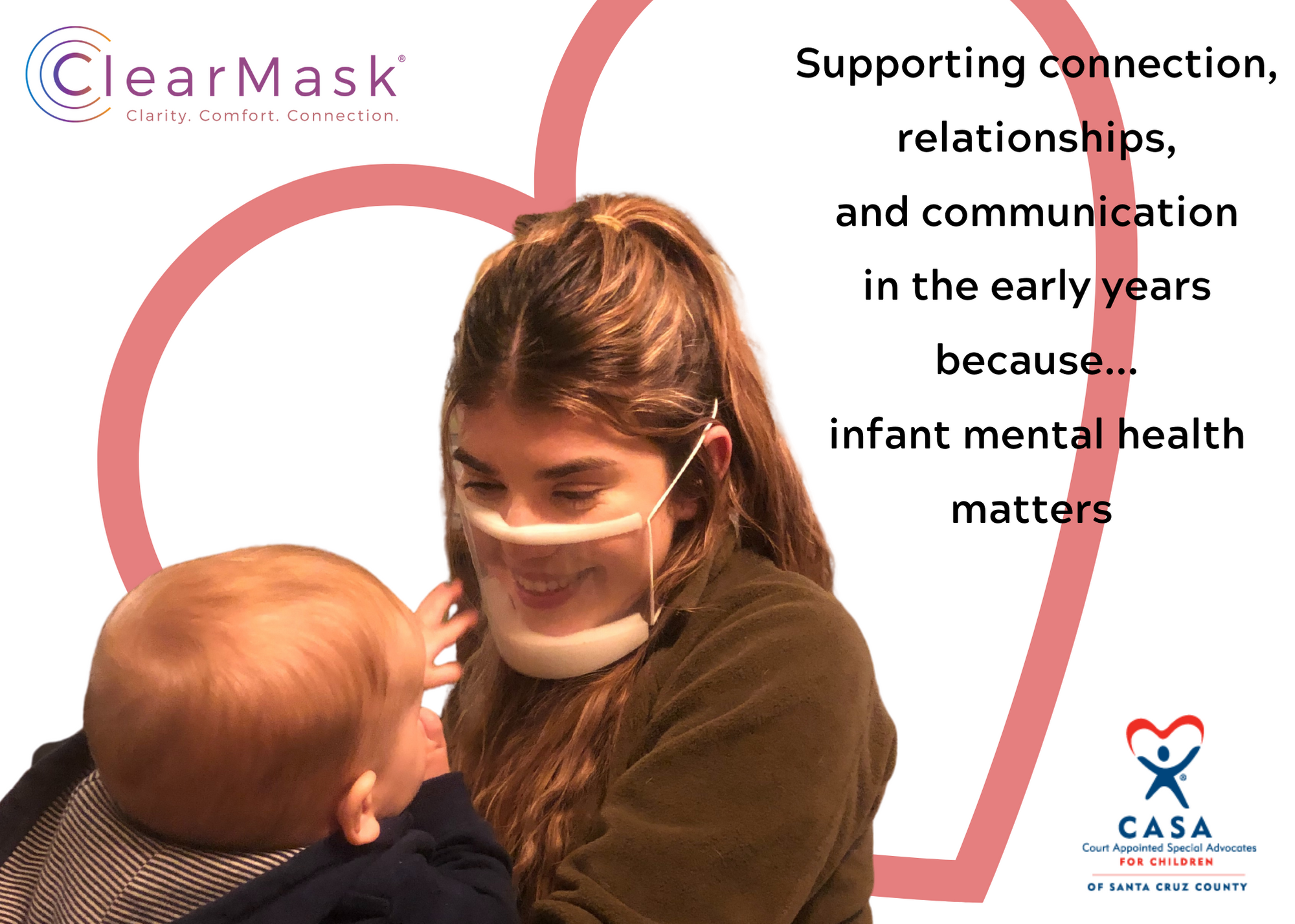 Peek-A-Boo, I see you:  Providing ClearMasks for Infant Mental Health