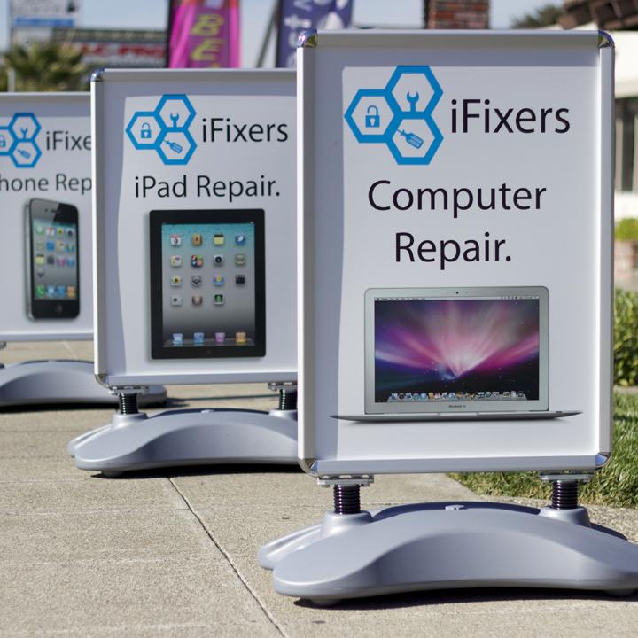 iFixers Whirlwind Sidewalk Signs