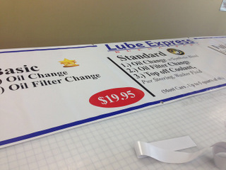 Buy auto service menu signs cheap in Orange County