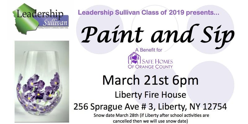 Leadership Sullivan - Paint & Sip Fundraiser and Toiletry Drive