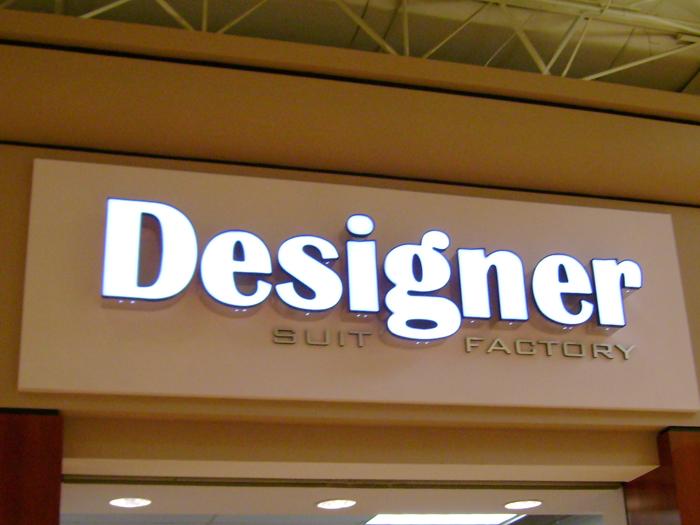 Designer Suit Factory Storefront Sign