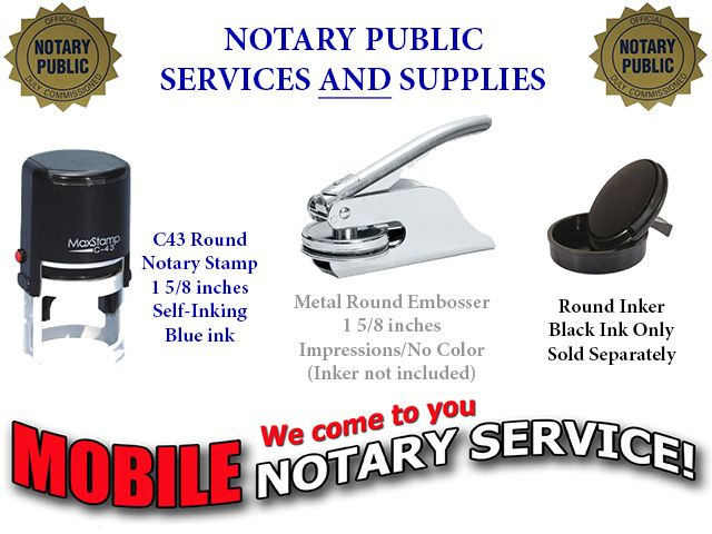 Notary Public Services and Supplies