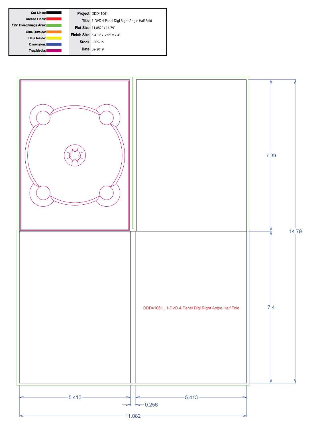 DDD41061 1 Tray No Pocket