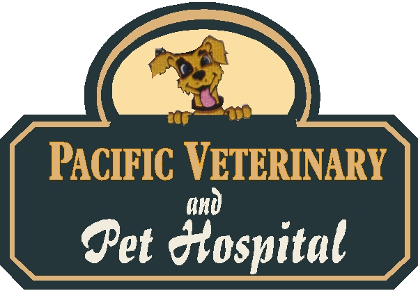 BB11770 – Veterinary and Pet Hospital Carved HDU Sign