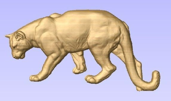 M22986 - 3D Carved Wood Mountain Lion, Cougar or Puma