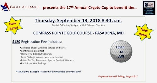 Eagle Alliance Crypto Cup - RESCHEDULED from 9/13