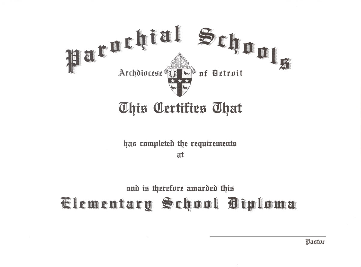 Diploma - Elementary