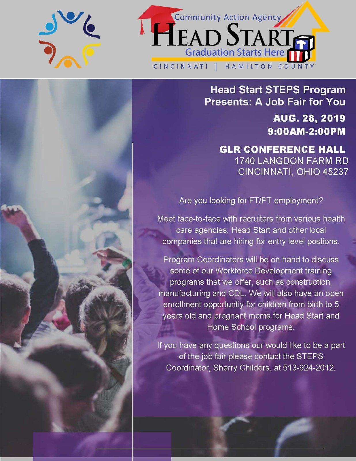 CAA Head Start S.T.E.P.S. Program Presents: A Job Fair for You