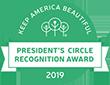 Presidents circle recognition award logo.