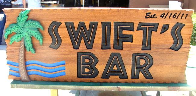 RB27240 -  Redwood Tropical  Bar Sign