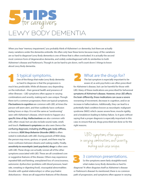5 Tips for Lewy Body Dementia