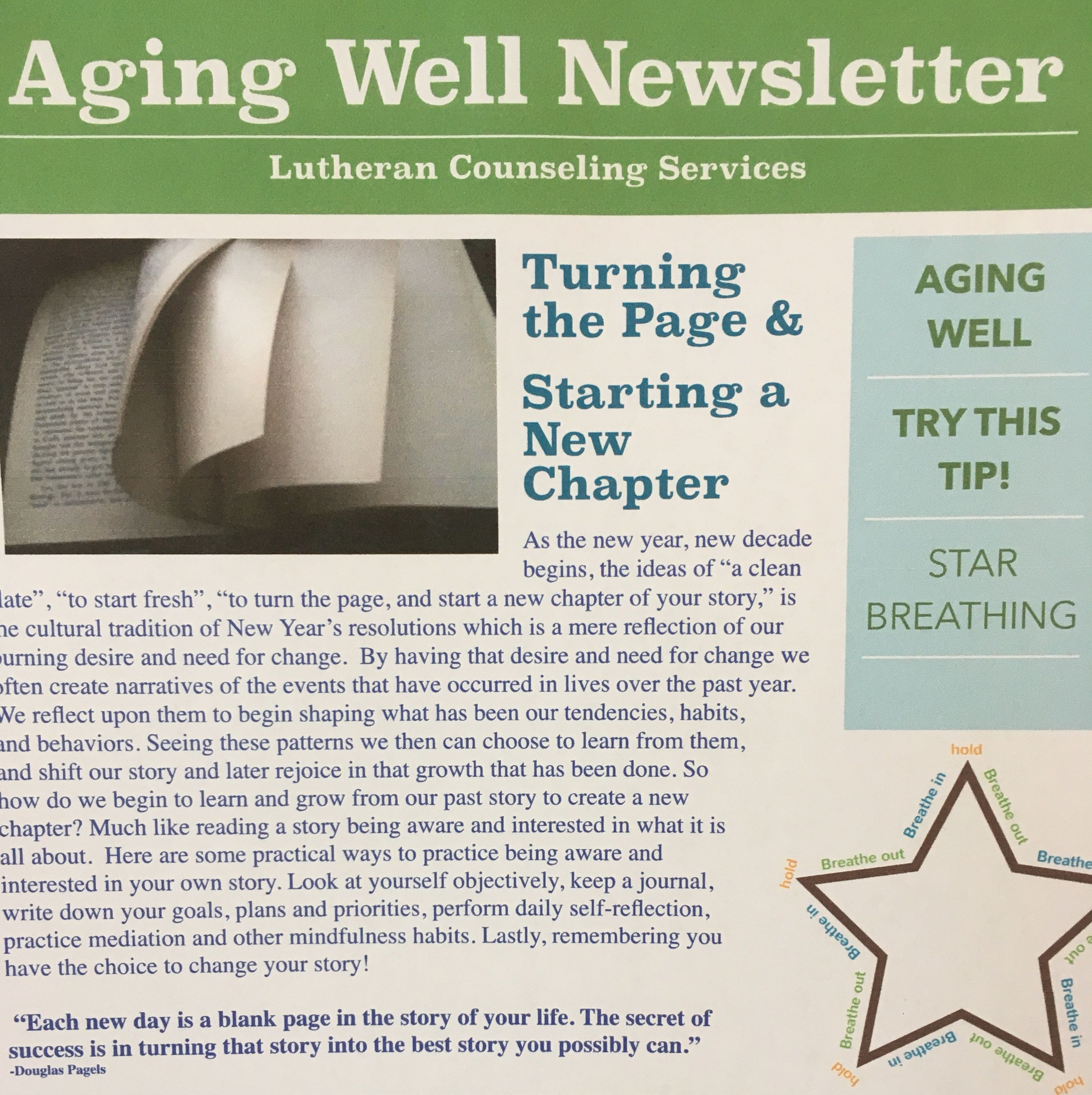 Aging Well Newsletter January 2020