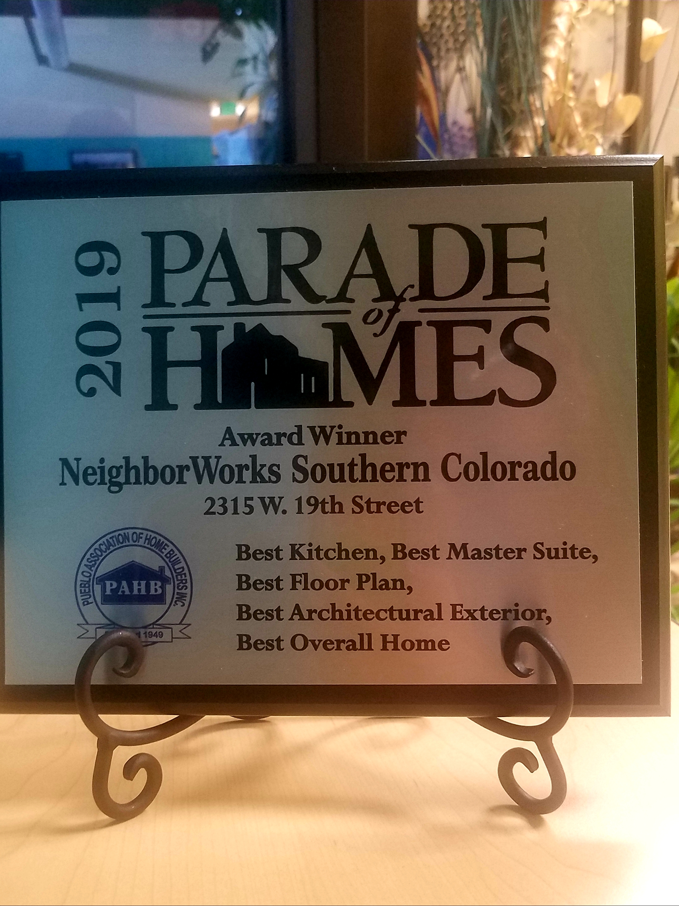 Parade of Home Award Winner