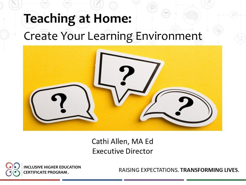 Teaching at Home: Create Your Learning Environment